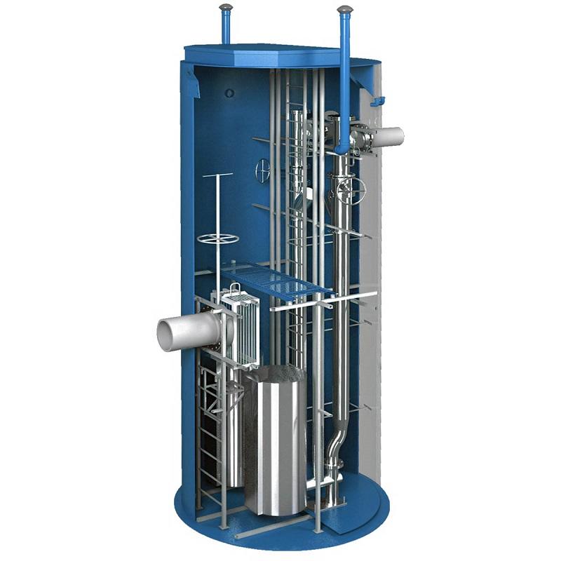 Вертикальные канализационные насосные станции (КНС)